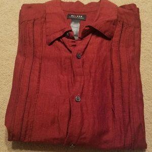 Access Mens Short Sleeve Large dress shirt red